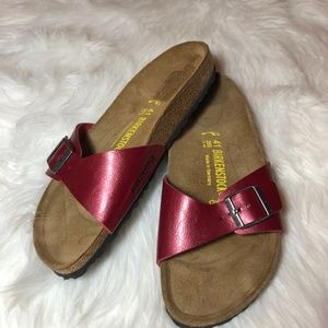 NWOT Birkenstock Madrid Birko-Flor Leather Sandals